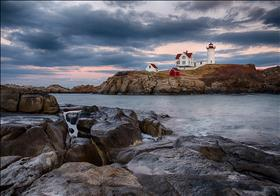 Nubble Light from the Rocks